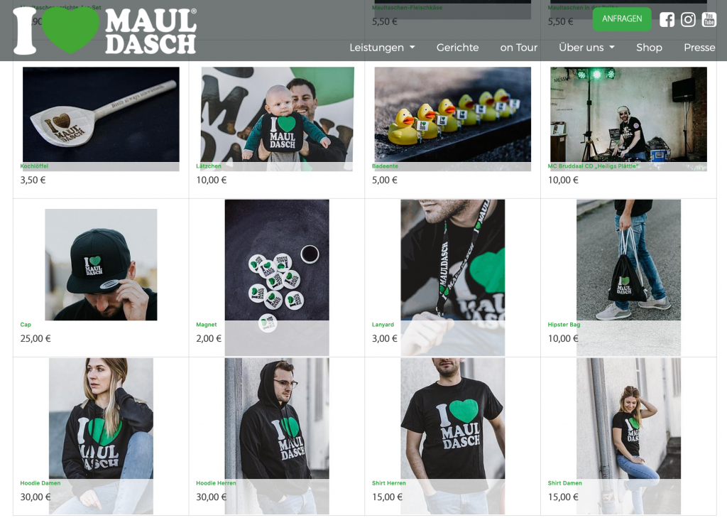 I love Mauldasch Online Shop